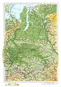 Западно-Сибирская равнина СССР. Физическая карта