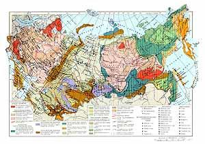 Месторождения полезных ископаемых СССР