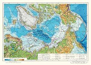 Арктика. Физическая карта