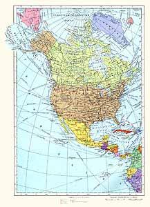 Северная Америка. Политическая карта