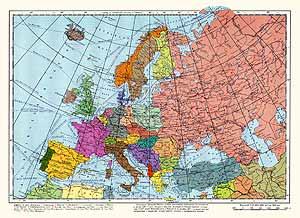 Европа. Политическая карта
