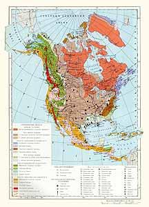 Северная Америка. Месторождения полезных ископаемых