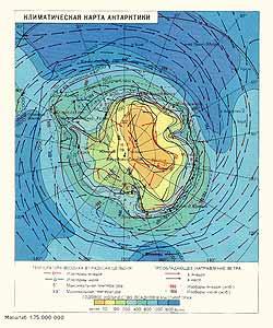 Антарктика. Климатическая карта