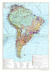 Южная Америка. Экономическая карта