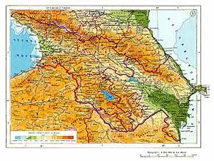 Закавказье СССР. Физическая карта