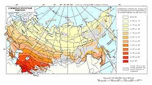 Суммарная солнечная радиация СССР