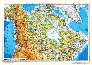 Канада. Физическая карта