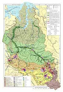 Западно-Сибирский район СССР. Экономическая карта