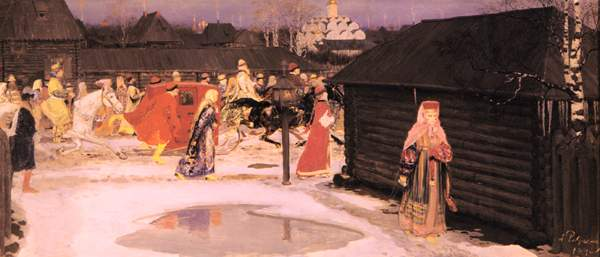 А.П.Рябушкин.  «Свадебный поезд вМоскве (XVIIстолетие)».